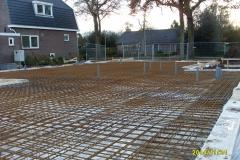 klaar voor betonstort