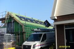 de eerste zonnepanelen